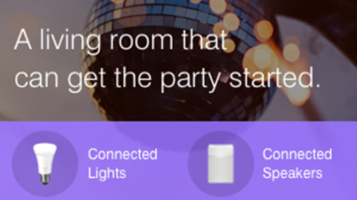 A living room can get the party started - Philips Hue connection with Samsung SmartThings