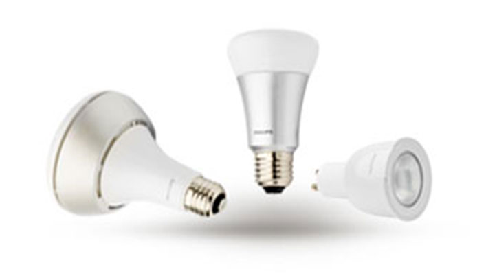 Smart Philips Hue LED bulbs